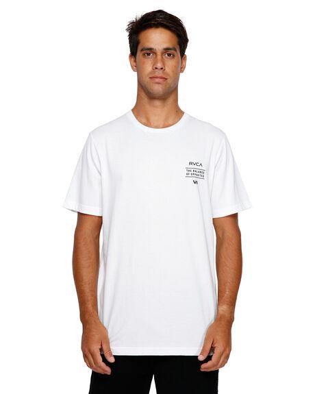 WHITE MENS CLOTHING RVCA TEES - RV-R191059-WHT