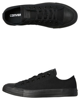 BLACK MONOCHROME WOMENS FOOTWEAR CONVERSE SNEAKERS - SS15039BLKMOW