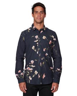 BLACK MENS CLOTHING RVCA SHIRTS - RV-R107182-BLK