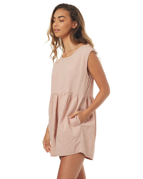 TERRACOTTA LINEN WOMENS CLOTHING SAINT HELENA PLAYSUITS + OVERALLS - SH2A206TERRL