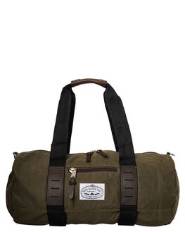 WAXED BURNT OLIVE MENS ACCESSORIES POLER BAGS - 13110002WBO