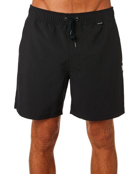 BLACK MENS CLOTHING HURLEY BOARDSHORTS - AR1428010