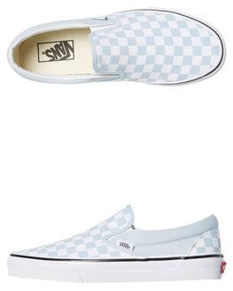 BABY BLUE WOMENS FOOTWEAR VANS SLIP ONS - SSVNA38F7QCKBBLUW