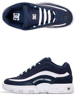 NAVY/WHITE WOMENS FOOTWEAR DC SHOES SNEAKERS - ADJS100129-NWH