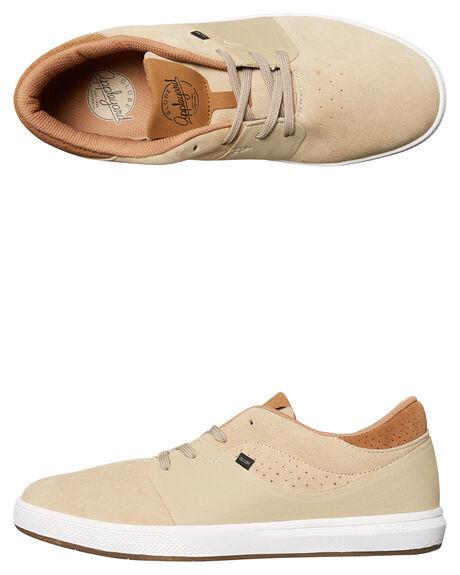 TAN WHITE MENS FOOTWEAR GLOBE SNEAKERS - GBMAHALOSG-16054