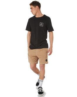 BLACK MENS CLOTHING RVCA TEES - R172062BLK
