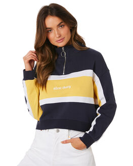 NAVY WOMENS CLOTHING SILENT THEORY JUMPERS - 6033014-NAVY