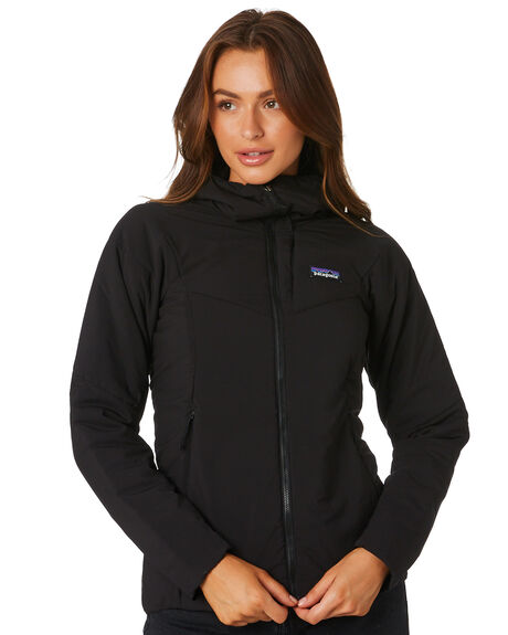 BLACK WOMENS CLOTHING PATAGONIA JACKETS - 84267BLK