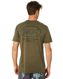 DARK OLIVE MENS CLOTHING RIP CURL TEES - CTEQA29389