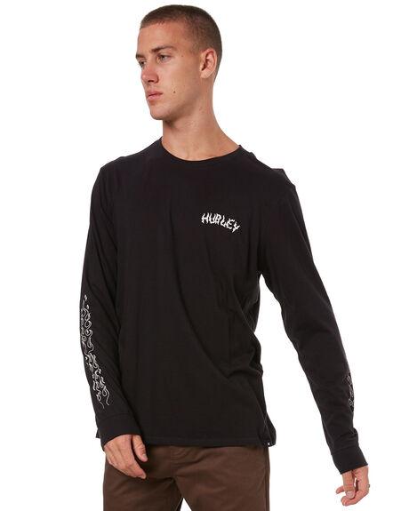 BLACK MENS CLOTHING HURLEY TEES - 941944010