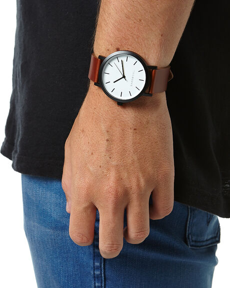 BLACK WHITE WALNUT MENS ACCESSORIES THE HORSE WATCHES - STO123-A15BKWHW