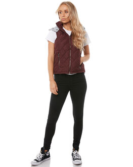 PLUM BURGANDY WOMENS CLOTHING ALL ABOUT EVE JACKETS - 6413037PLM