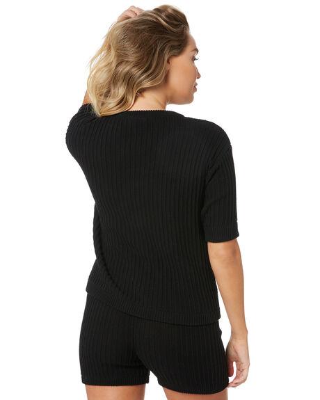 BLACK WOMENS CLOTHING RUE STIIC KNITS + CARDIGANS - SW-20-K-13-B-CBLK
