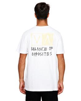 WHITE MENS CLOTHING RVCA TEES - RV-R191044-WHT