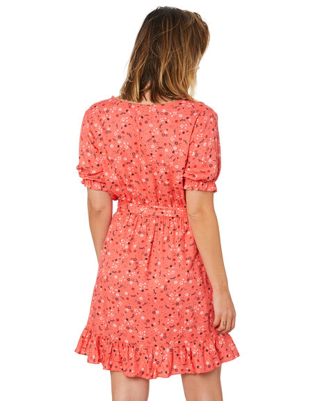 RED FLORAL PRINT WOMENS CLOTHING SWELL DRESSES - S8211451RDFPT
