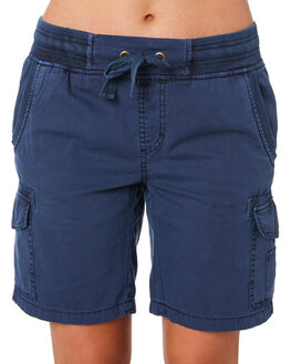 WASHED BLUE WOMENS CLOTHING SWELL SHORTS - S8201194WSHBL