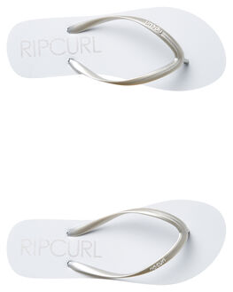 WHITE SILVER WOMENS FOOTWEAR RIP CURL THONGS - TWT4311572