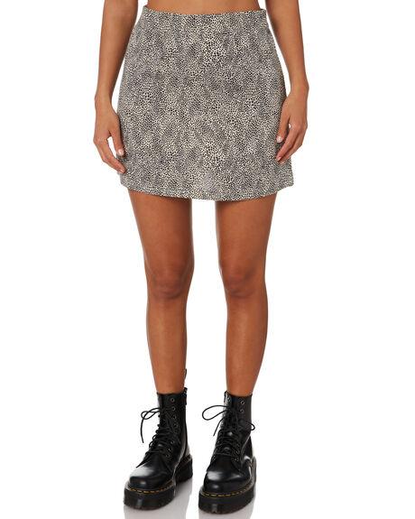 BLACK WOMENS CLOTHING RUSTY SKIRTS - SKL0500BLK