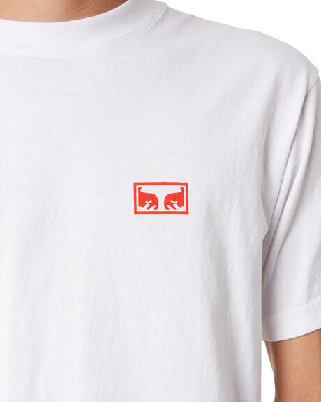 WHITE MENS CLOTHING OBEY TEES - 166912052WHT