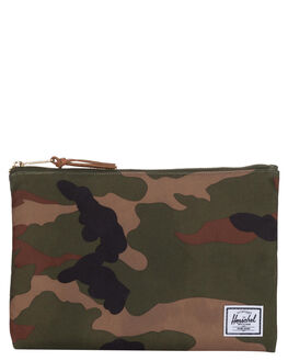 WOODLAND CAMO MENS ACCESSORIES HERSCHEL SUPPLY CO BAGS + BACKPACKS - 10488-00032-OSWOOD