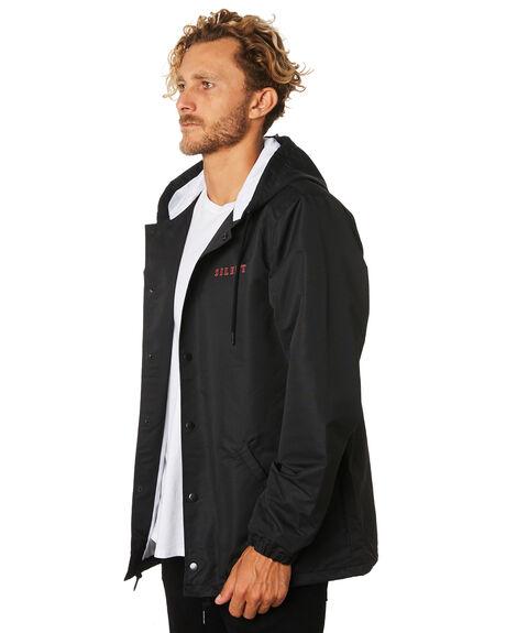 BLACK MENS CLOTHING SILENT THEORY JACKETS - 4033015BLK