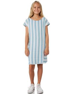 LIGHT BLUE WHITE KIDS GIRLS EVES SISTER DRESSES + PLAYSUITS - 9520050STR