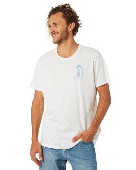 WHITE MENS CLOTHING KATIN TEES - TSPAL01WHT