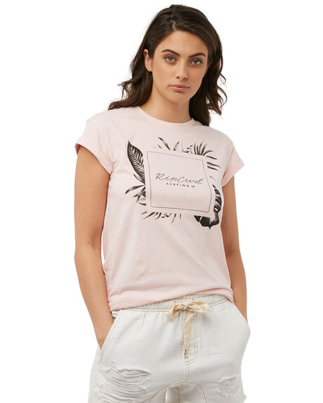 PINK WOMENS CLOTHING RIP CURL TEES - GTEWN1PINK