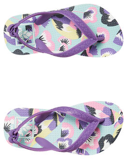 PASTEL BIRDS KIDS GIRLS REEF THONGS - A2YFAPLB