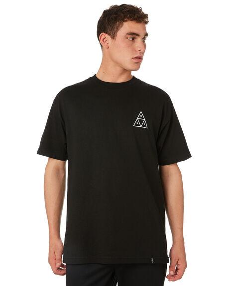 BLACK MENS CLOTHING HUF TEES - TS00509-BLACK
