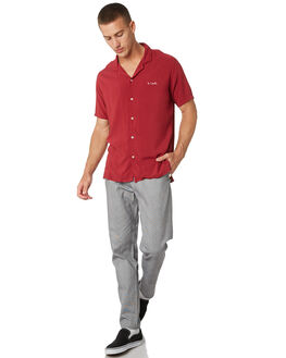 RED MENS CLOTHING BARNEY COOLS SHIRTS - 304-CC1RED