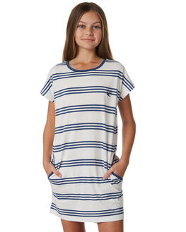 NAVY STRIPE KIDS GIRLS MUNSTER KIDS DRESSES - MM181DR08NVY