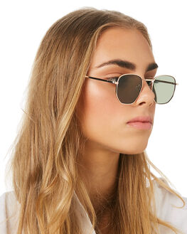 GOLD GREEN WOMENS ACCESSORIES MINKPINK SUNGLASSES - MNP1908236GLLDGR