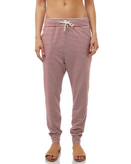 RUST WHITE STRIPE WOMENS CLOTHING SWELL PANTS - S8182192RSTWH