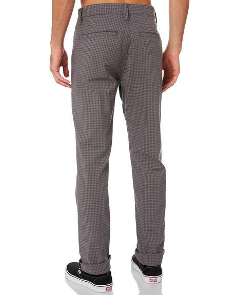 GREY GINGHAM MENS CLOTHING BRIXTON PANTS - 04044GRYGI