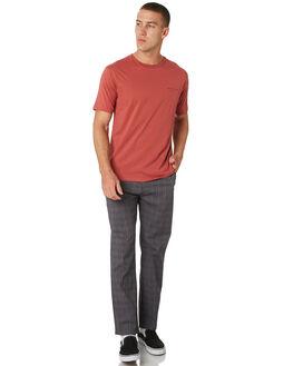 CHARCOAL PLAID MENS CLOTHING BARNEY COOLS PANTS - 710-CC2CHAPL