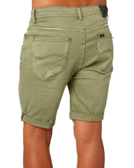 OLIVE MENS CLOTHING LEE SHORTS - L-606154-CR4OLI