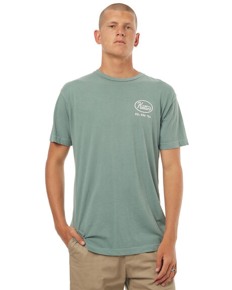 SMOKEY GREEN MENS CLOTHING KATIN TEES - TSUNI16SMGRN