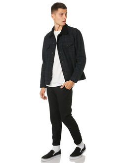 DIRTY BLACK MENS CLOTHING BANKS PANTS - PT0058DBLK