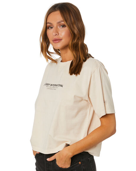WHITE SAND WOMENS CLOTHING STUSSY TEES - ST1M0167WHSND
