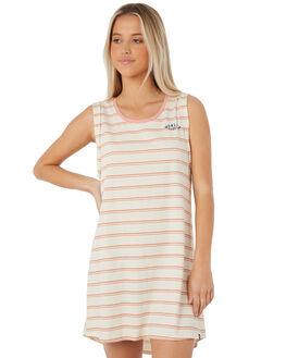 LIGHT CREAM WOMENS CLOTHING HURLEY DRESSES - AGDSSNLY-2F1