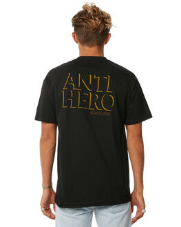 BLACK MENS CLOTHING ANTI HERO TEES - 51020315BBLK