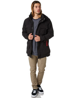 WASHED BLACK MENS CLOTHING ZANEROBE JACKETS - 509-FTWBLK