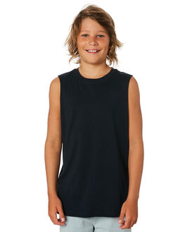 NAVY KIDS BOYS AS COLOUR TOPS - 3010-NVY