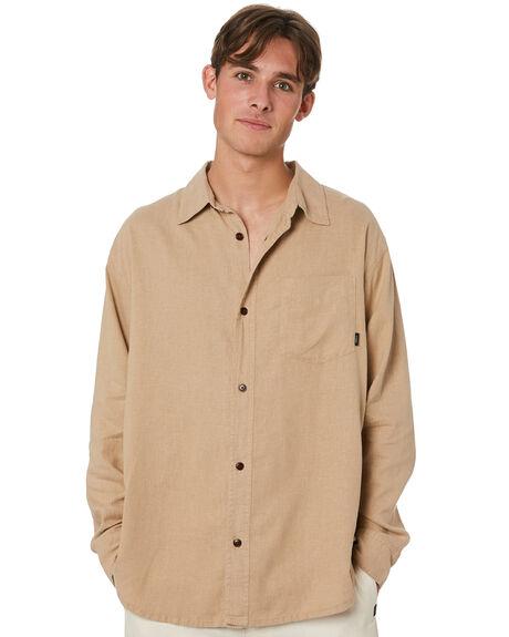 WASHED TAN MENS CLOTHING THRILLS SHIRTS - TH20-237CWTN