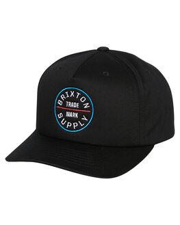 457abc591756f BLACK MENS ACCESSORIES BRIXTON HEADWEAR - 10541BLACK. BRIXTON 1 Oath Ii Mp Snapback  Cap