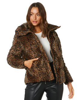 LEOPARD WOMENS CLOTHING UNREAL FUR JACKETS - URF8100415LEO