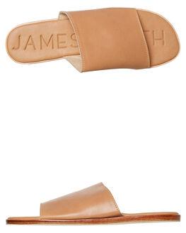 TAN WOMENS FOOTWEAR JAMES SMITH SLIDES - 11671347BROWN