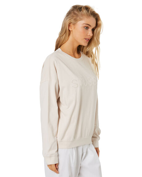 WHITE SAND WOMENS CLOTHING STUSSY JUMPERS - ST1M0192WSAND