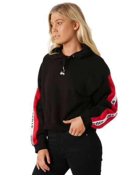 BLACK WOMENS CLOTHING STUSSY JUMPERS - ST186315BLK